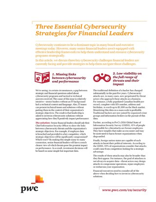 Three Essential Cybersecurity Strategies for Financial Leaders